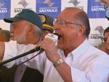 Alckmin se descontrola com Major Olímpio ao ser cobrado sobre reajuste aos servidores