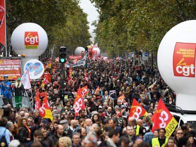 Ato na França repudia corte de direitos dos trabalhadores