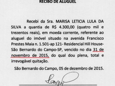 Defesa de Lula insinua não ter  recibos originais