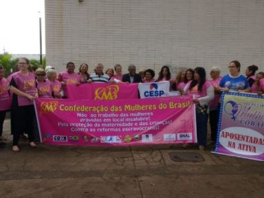 CMB realiza protesto em Brasília pelo fim das 'reformas' trabalhista e previdenciária