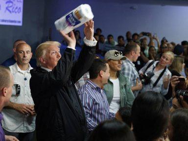 Visita de Trump a Porto Rico: nada de apoio a desalojados e só cobranças e constrangimentos
