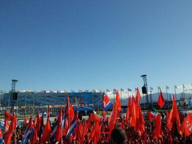 """Festival da Juventude: """"100 anos após o triunfo da Revolução Russa a luta anti-imperialista continua mais atual que nunca"""""""