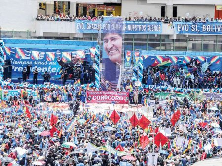 100 mil nas ruas da Bolívia defendem direito de Evo à reeleição