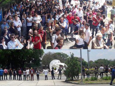 População denuncia descaso e abraça HU-USP