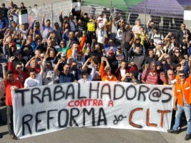 Manifestações mobilizam trabalhadores em todo o país contra lei que ataca direitos