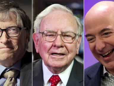 Gates, Buffett e Bezos juntos são mais ricos que a metade mais pobre dos EUA