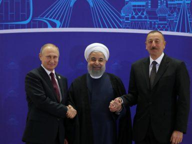 Putin reúne-se com presidentes do Irã e do Azerbaijão em Teerã