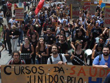 Funcionários do HU-USP fazem greve de 24 horas