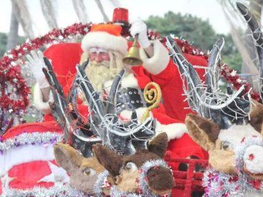 Papai Noel é apedrejado em Itatiba