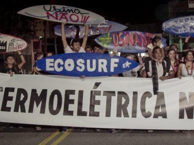 População de Peruíbe barra termelétrica