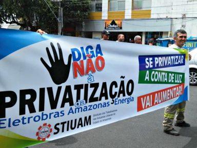 Sindicato irá à Justiça contra privatização da Eletrobras no Amazonas