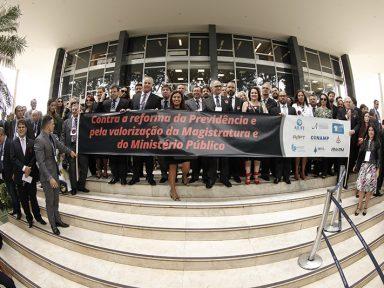 """Juízes repudiam """"reforma"""" da Previdência em protesto no DF"""