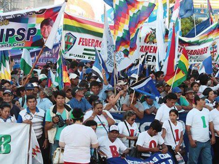 Multidão nas ruas de Santa Cruz pede a reeleição de Evo