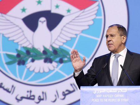 """Lavrov: """"Congresso Nacional do Diálogo Sírio é avanço rumo à paz"""""""