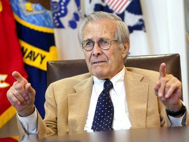 Donald Rumsfeld e seus 'snowflakes'