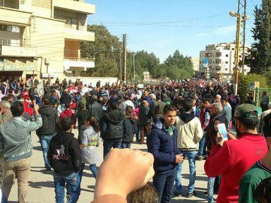 Moradores de Guta fazem ato em apoio ao Exército da Síria