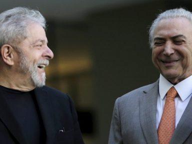 Temer agradece declaração de Lula de que Janot quis dar um golpe contra o seu governo