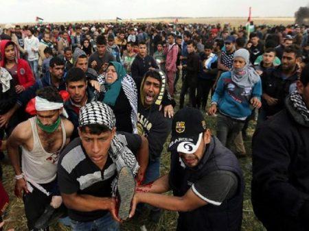 Governo de Israel manda metralhar multidão: 17 palestinos mortos e 1.500 feridos nesta sexta-feira