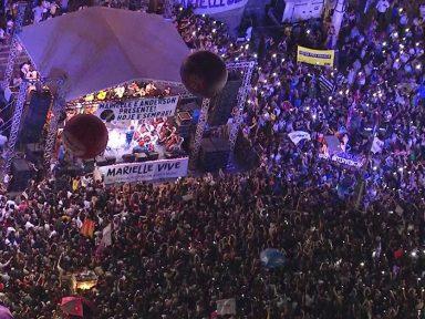 Ato por Marielle no Rio pede que bandidos não fiquem impunes