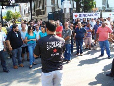 Portuários de Santos fazem paralisação de 24 horas e exigem cumprimento de acordo