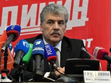 Líder do PC da Federação Russa, conclama povo a votar em Grudinin