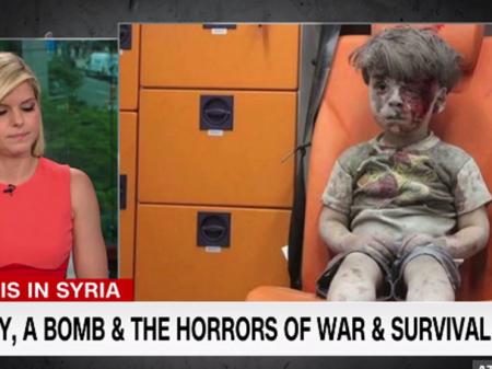 Flagra sobre criança de Alepo pegou rede CNN de calça curta