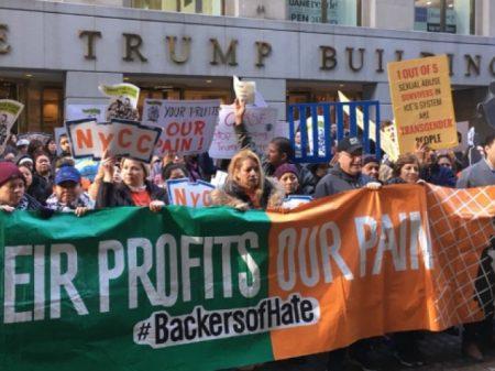 """Marcha do Dia do Trabalhador em Wall Street: """"O lucro é deles, a dor é nossa"""""""