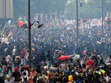 Manifestações de servidores na França repudiam arrocho e cortes