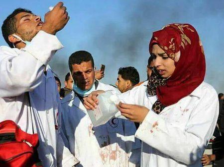 Israel assassina enfermeira que socorria palestino ferido em Gaza