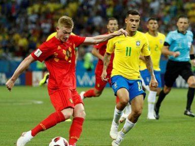 Brasil se esforça muito mas não supera a agilidade dos belgas