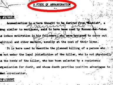 """CIA preparou """"teoria e prática do assassinato"""" para formar killers"""