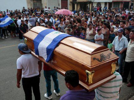 Na Nicarágua número de mortos chega a 448