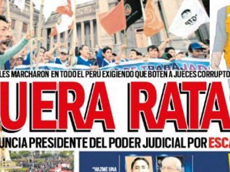Magistrados peruanos são afastados por corrupção