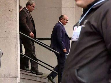 Alckmin depõe no inquérito em que é acusado de receber R$ 10 milhões da Odebrecht