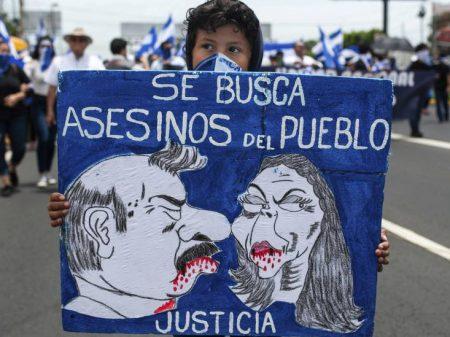 """Ortega prende 28 manifestantes em ato pela """"libertação dos presos políticos"""""""