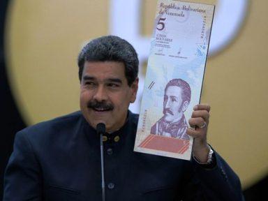 Maduro pensa sustar a hiperinflação cortando cinco zeros da moeda