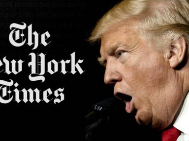 Trump disputa com 'New York Times' o monopólio das fake news