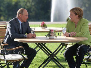 Putin conversa com Merkel sobre a Síria, Ucrânia e Nord Stream-2