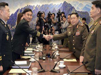 Diálogo intercoreano começa retirada de postos de fronteira