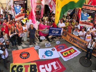 Centrais sindicais repudiam esquartejamento e fim do Ministério do Trabalho