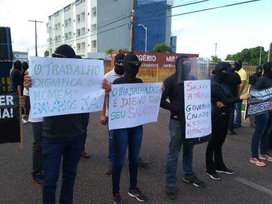 Policiais e agentes penitenciários de Roraima exigem pagamento de salários atrasados