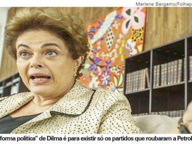 Dilma quer que vinte e oito senadores lhe deem presidência que perdeu por trair o país