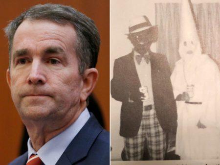 """Foto de """"cara-preta & Ku Klux Klan"""" pode derrubar governador nos EUA"""