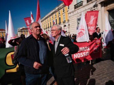 Greve nacional de servidores repudia arrocho em Portugal
