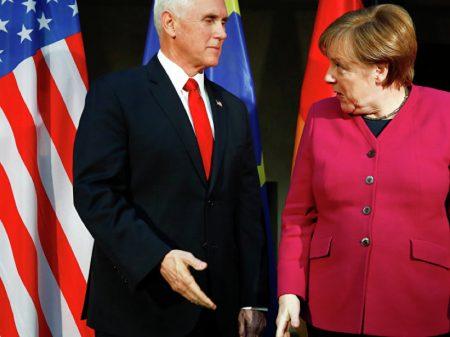 Vice Pence se choca com Merkel ao exigir que UE rejeite o gasoduto russo