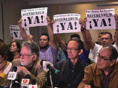 """Venezuela: lideranças denunciam ingerência e lançam """"Plataforma pelo Referendo"""""""