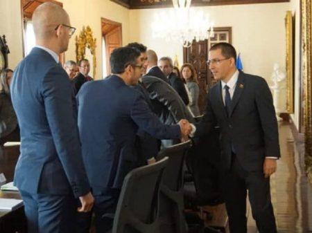 Chanceler da Venezuela recebe Grupo de Contato Uruguai/União Europeia
