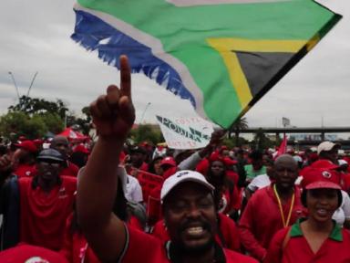 Trabalhadores param na África do Sul contra o desemprego