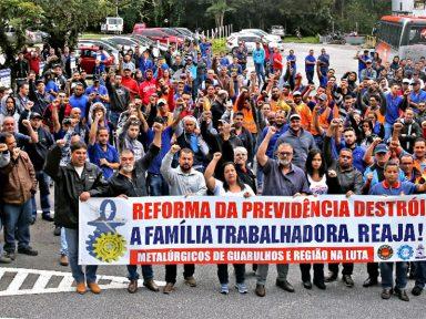 Metalúrgicos de Guarulhos mobilizam mais de dois mil contra reforma da Previdência