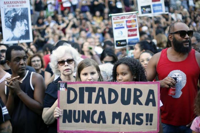 Resultado de imagem para manifestações contra comemoração ditadura